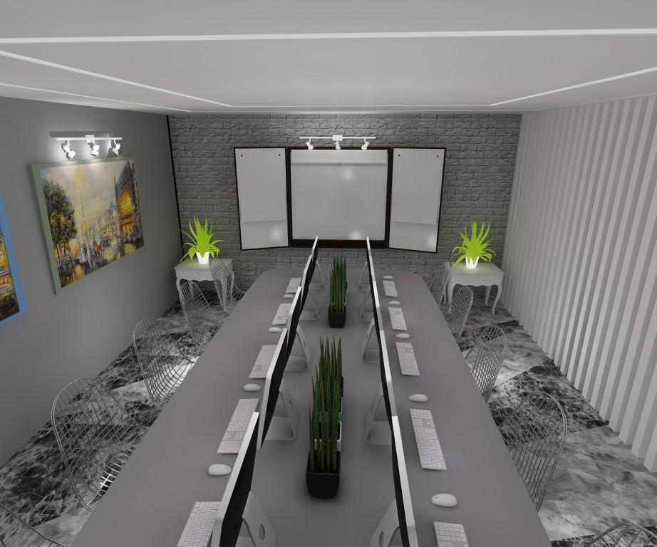 реконструкція навчального корпусу в 3d max vray зображення