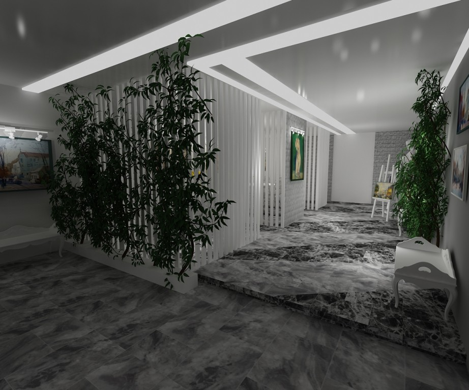 Reconstruction of educational building in 3d max vray image