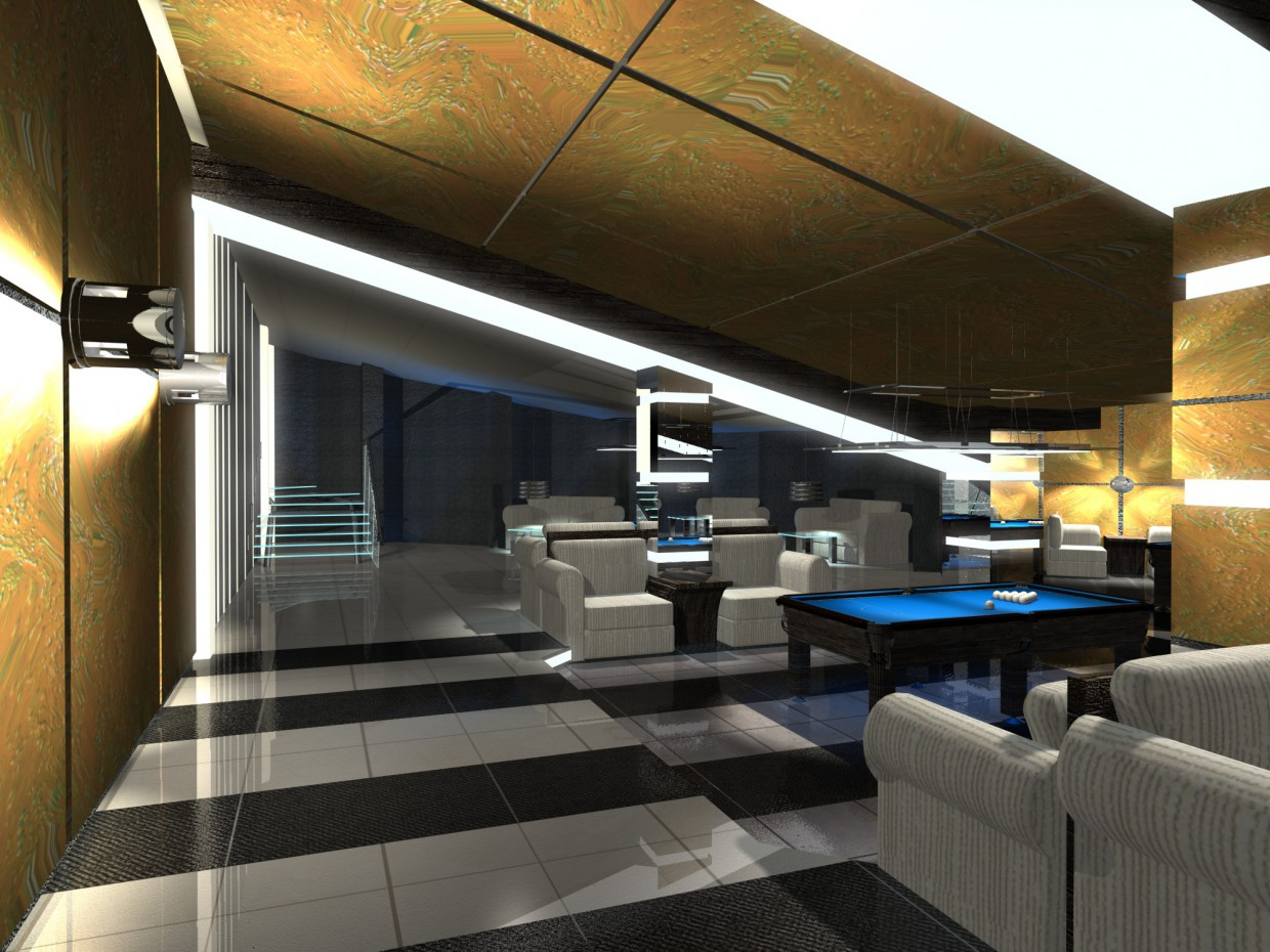 Billiards in 3d max mental ray image