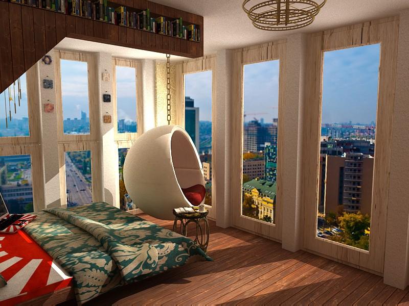 3d визуализация проекта Спальня в 3d max, рендер vray от zarazaz2008
