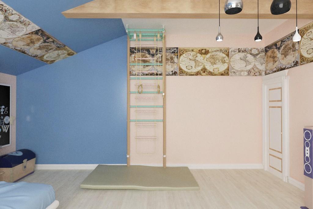 Дитяча кімната для хлопчика в 3d max vray зображення