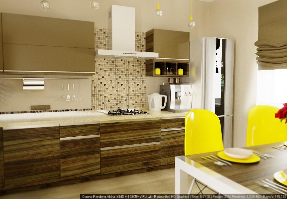 Кухня в Боровлянах в 3d max corona render зображення