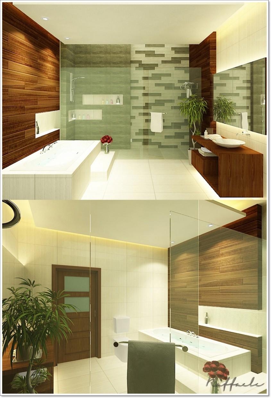 3d визуализация проекта Tropical Bathroom в 3d max, рендер vray от stephoneyz