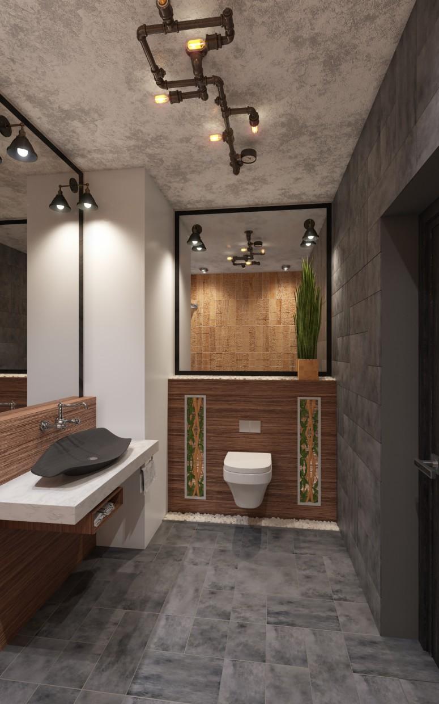 Bethroom in 3d max corona render image