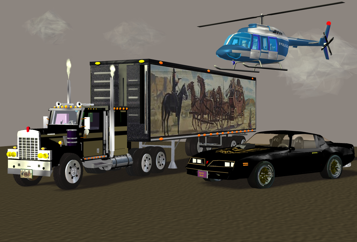 My Smokey and the Bandit in Blender Other image