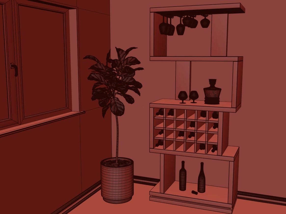 Room in 3d max corona render image