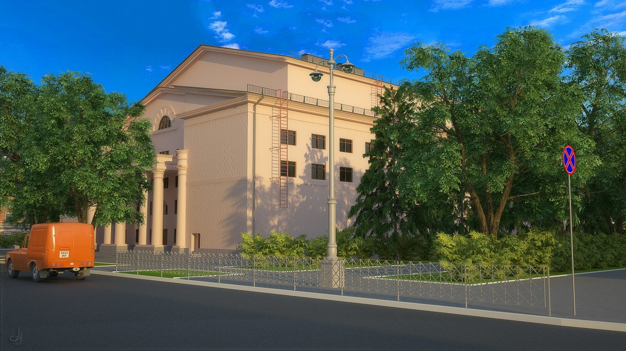 3d visualization of the project in the Kemerovo, ul. Spring, 80 years 3d max, render vray of old_hunter