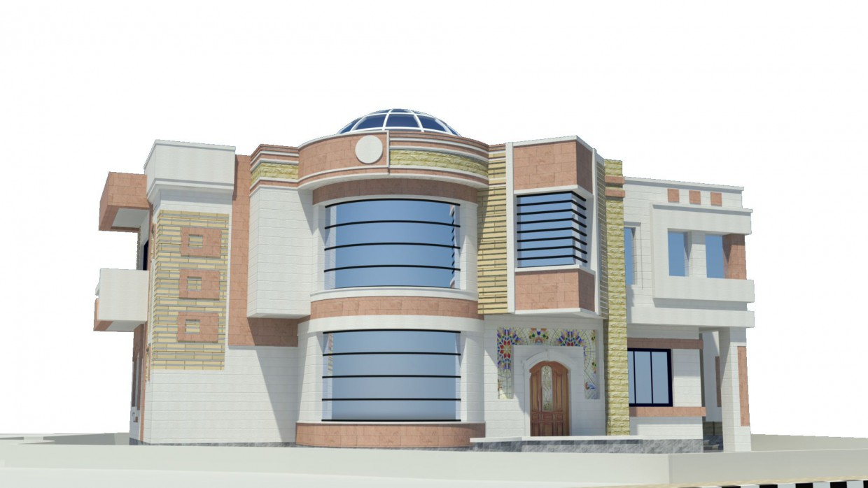 villa in 3d max mental ray image