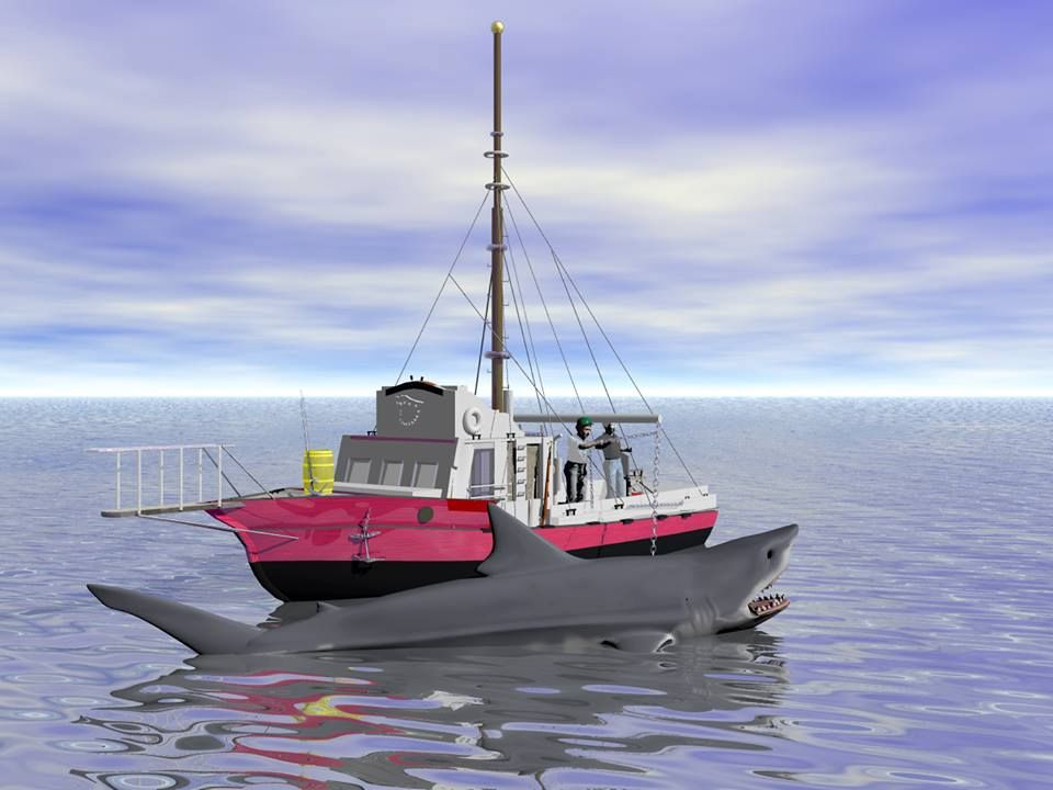 Scene from JAWS-My Orca boat in Daz3d Other image