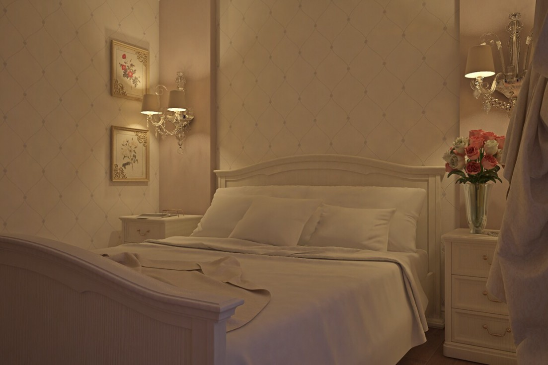 3d visualization of the project in the bedroom 3d max, render vray of ///ARTVIZLAB