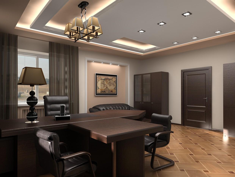 imagen de Sala de oficina de lujo 2 en 3d max vray