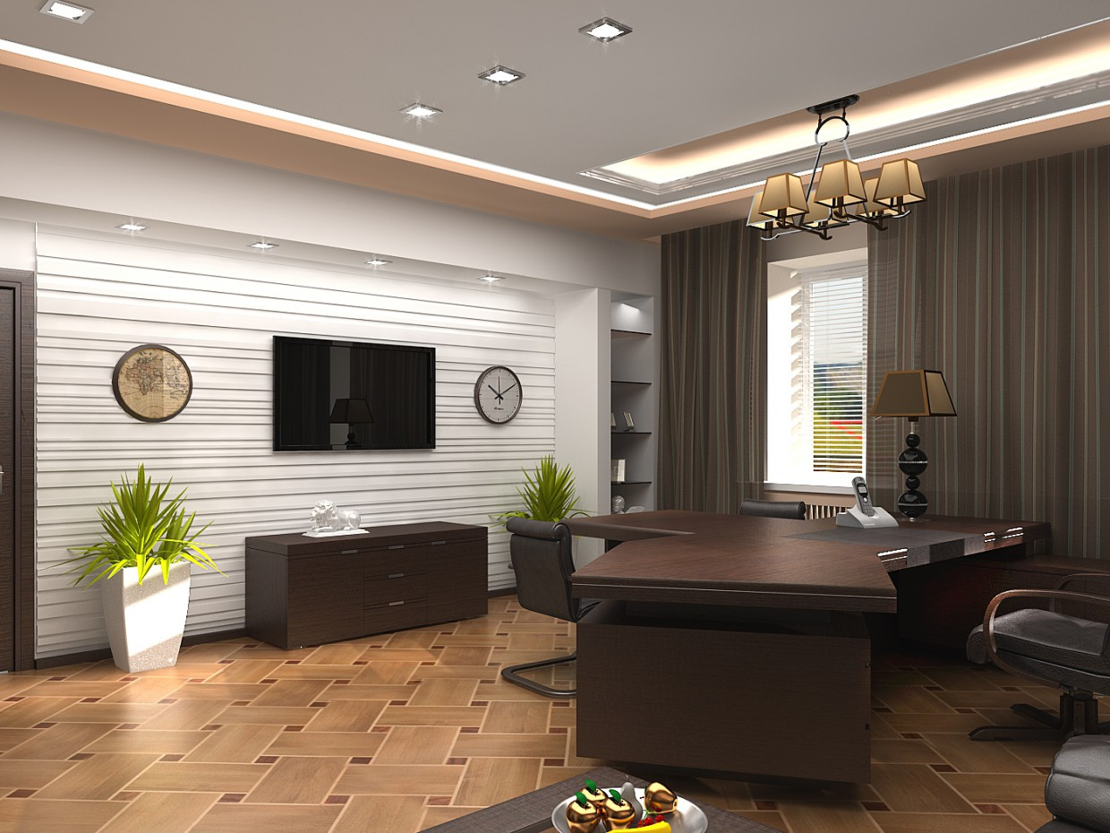 Luxury office room 2 in 3d max vray image
