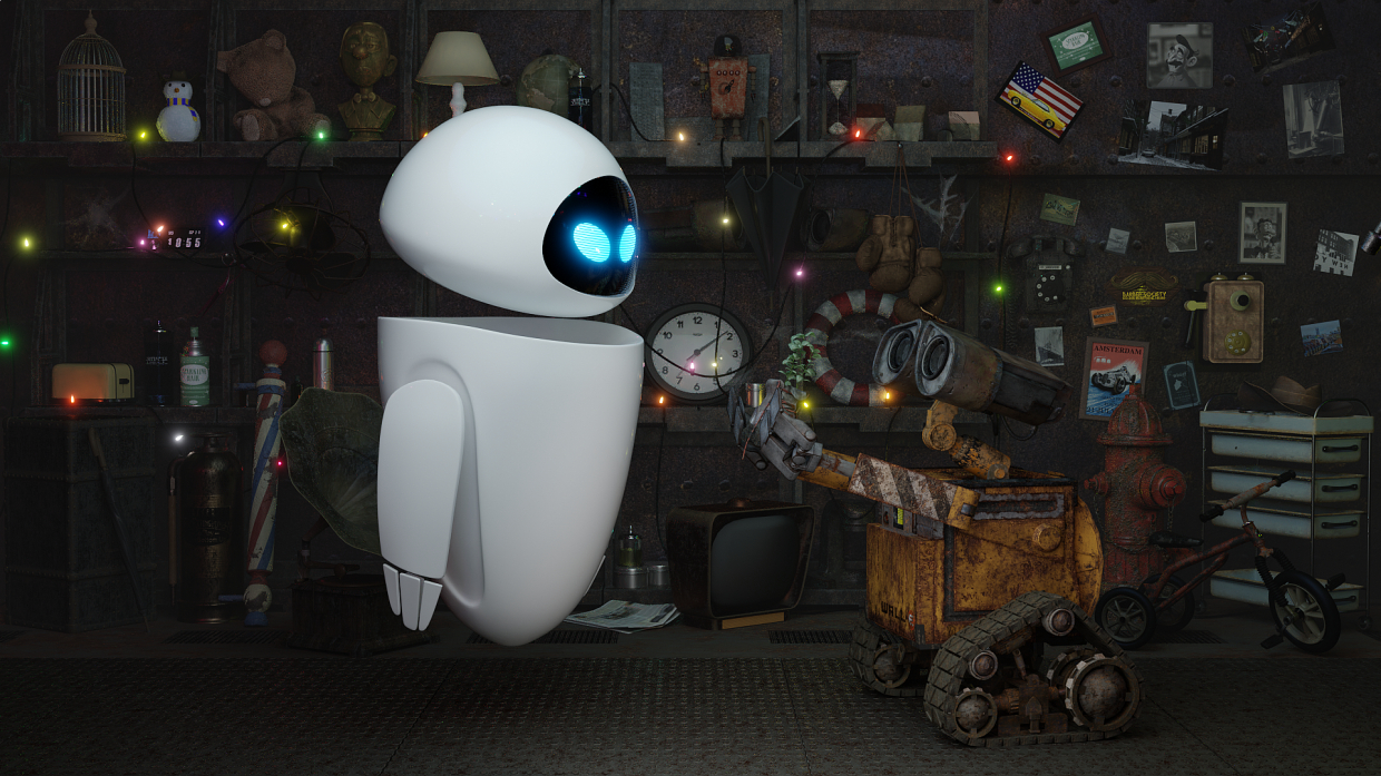 Wall-e in Blender cycles render image