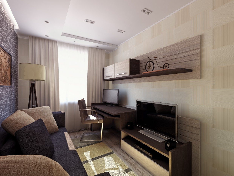 3d візуалізація проекту Кімната в 3d max, рендер vray від In Group Crev