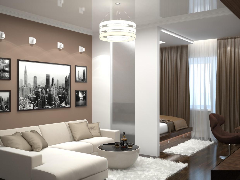 Visualização 3D do projecto no Apartamento T1 em uma variedade de estilos 3d max , processar vray Eкатерина