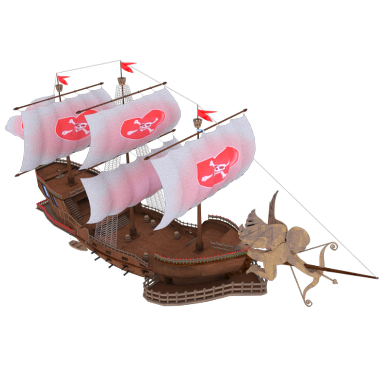 Valentine's ship in 3d max vray 3.0 image