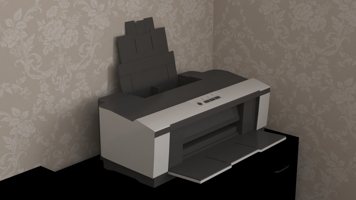 Printer  in  3d max   vray  image