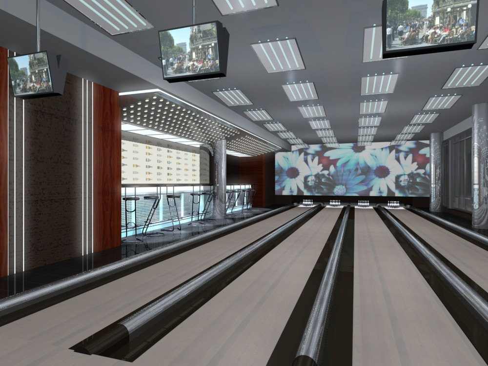 Bowling in 3d max mental ray image