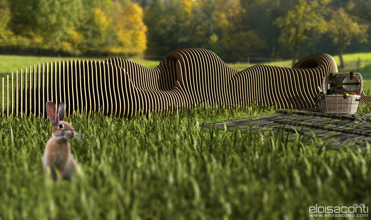 Parametric bench... isn't it?  in  Cinema 4d   vray  image