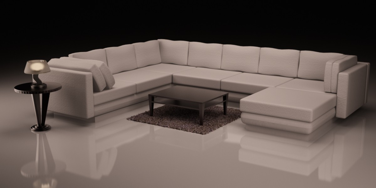 Sofa in 3d max vray image