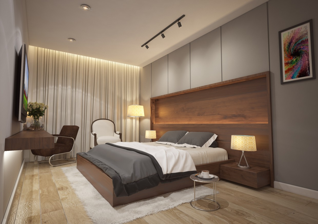 LUXURY BED ROOM in 3d max vray 3.0 image