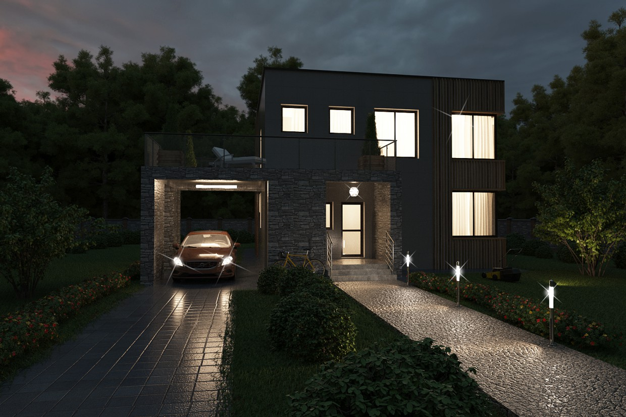 It was getting dark in 3d max vray image