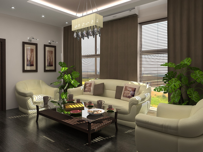 imagen de Sala de estar en una oficina 3 en 3d max vray