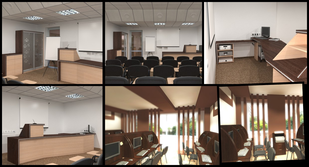 3d visualization of the project in the Conference Hall at the hotel 3d max, render vray of romanius