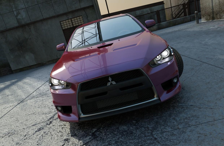 Mitsubishi Lancer in 3d max vray image