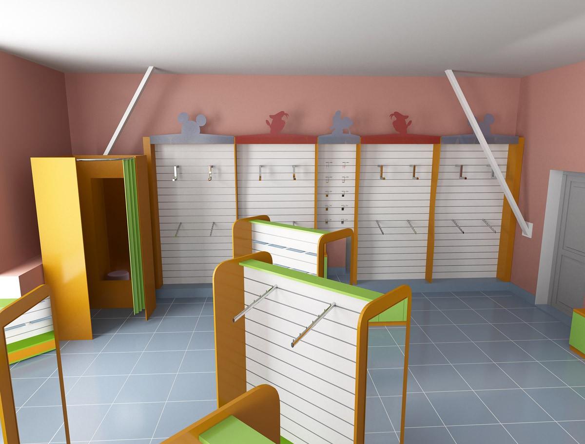 Магазин детской одежды в 3d max vray изображение