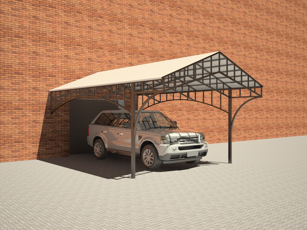 3d visualization of the project in the Car shed 3d max, render vray 2.5 of inna_s