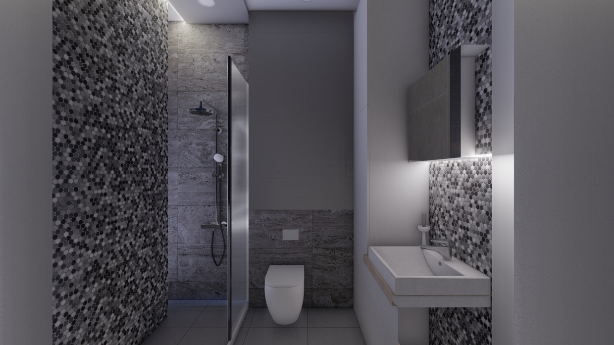 Apartment in a high-rise in SketchUp vray 2.5 image