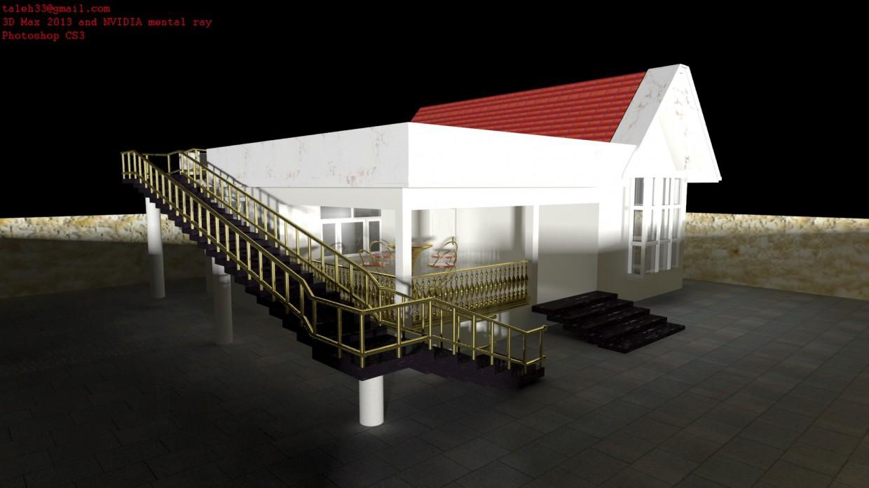 imagen de 3D diş mekan en 3d max mental ray