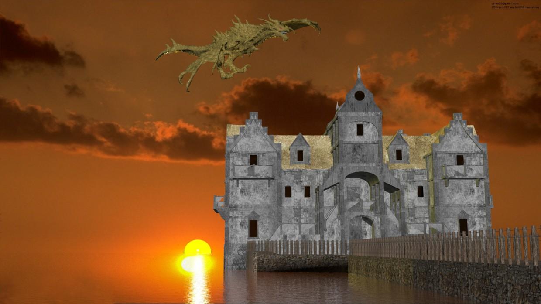 3D diş mekan in 3d max mental ray image