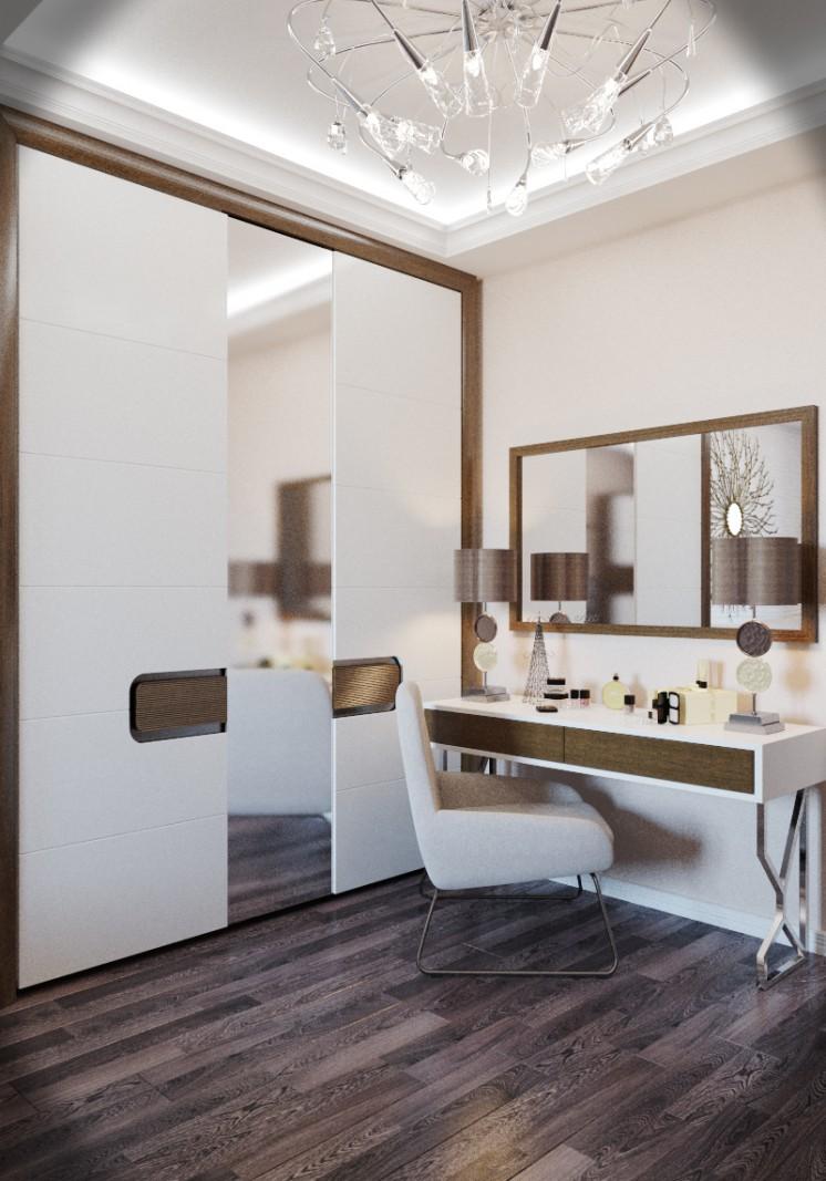 Спальня Минимализм в 3d max vray изображение