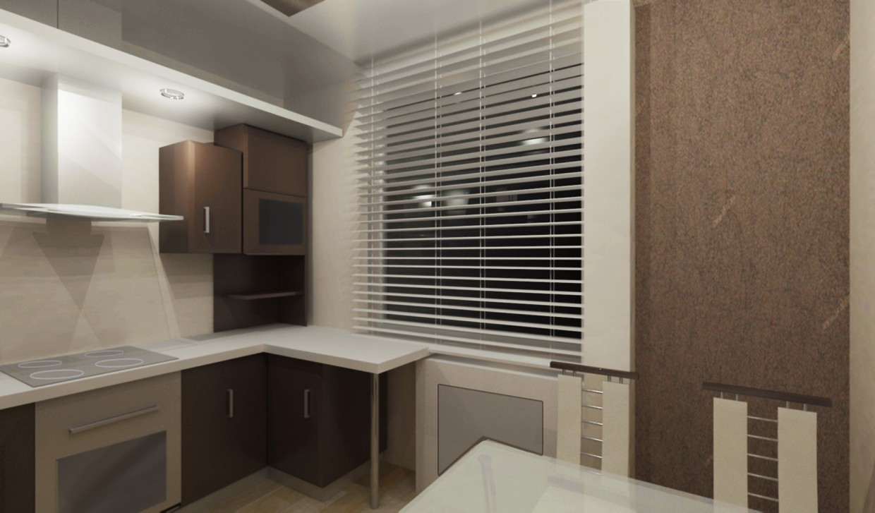 Design of a kitchen in 3d max vray image