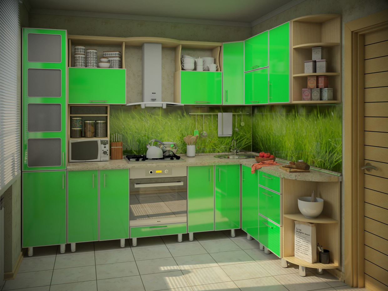 Kitchenette in 3d max vray image