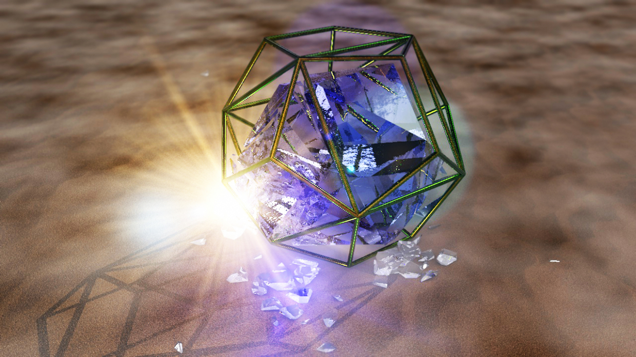 battle of glass in Cinema 4d vray 1.5 image