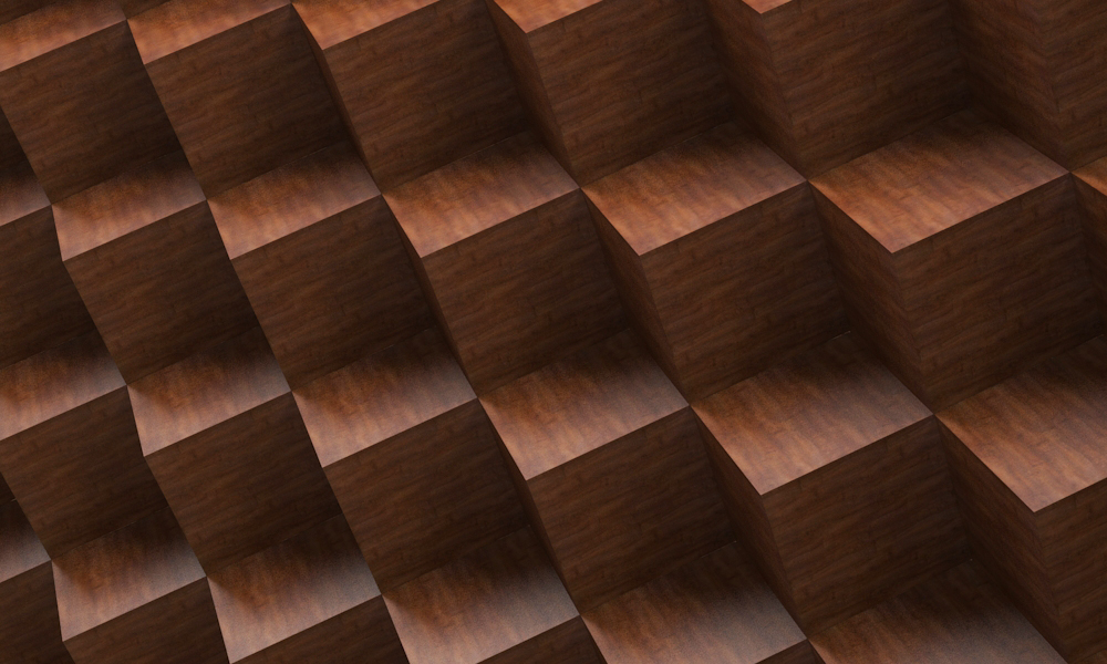 Optical illusion in volume in 3d max vray 3.0 image