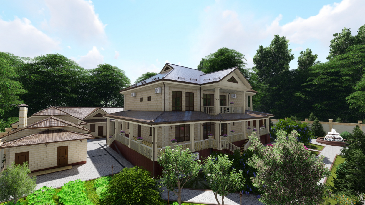3D Presentation of a cottage project with a landscape. (Video attached) in Cinema 4d Other image