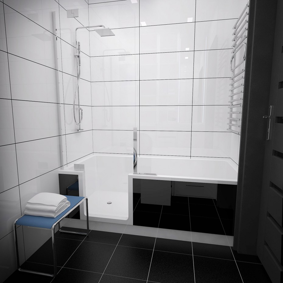 3d visualization of the project in the Bathroom 3d max, render vray of Evgenyus112