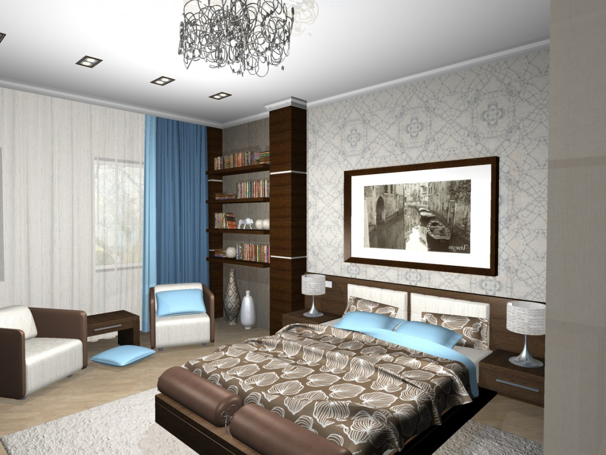 Hotel room in 3d max mental ray image
