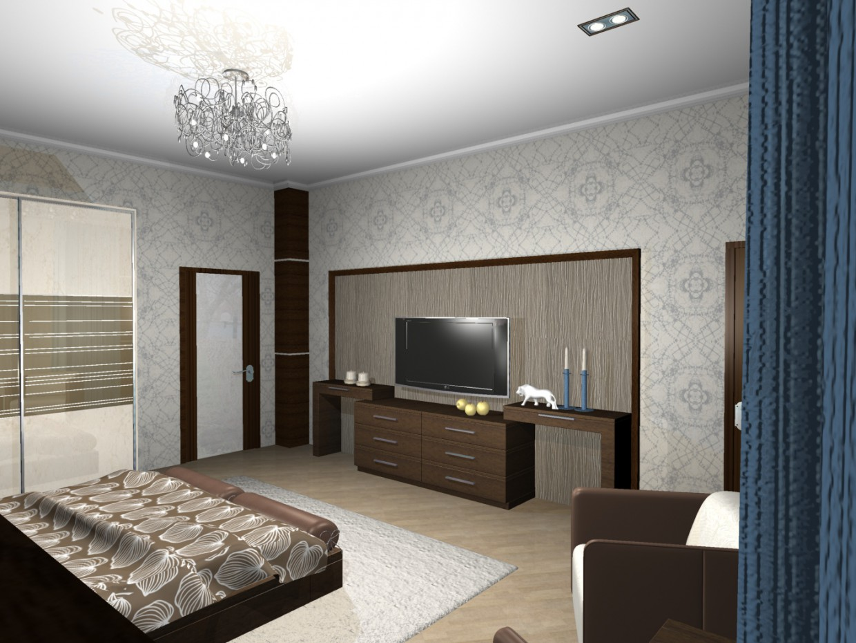 imagen de habitación de hotel en 3d max mental ray