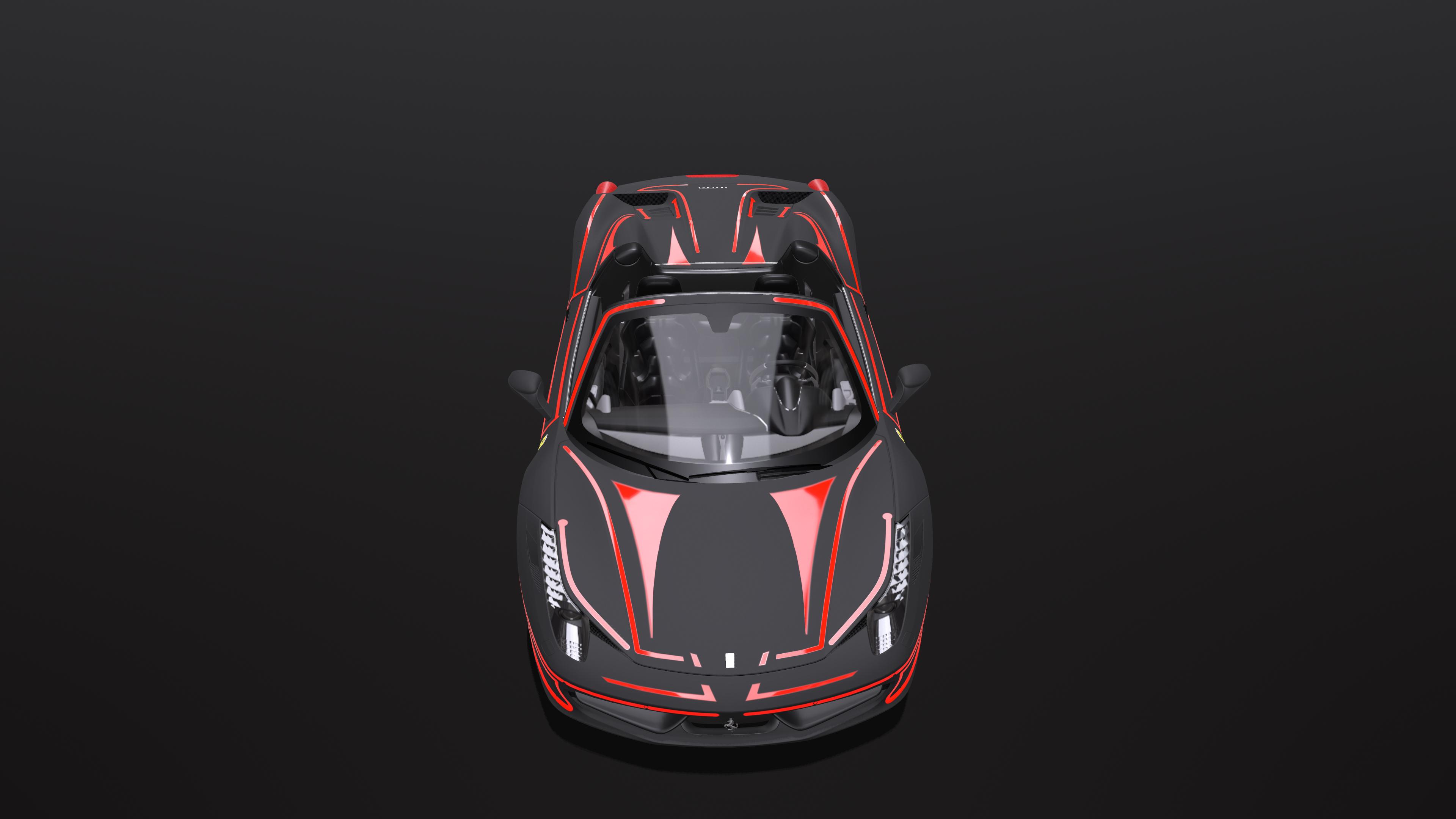 Ferrari spider in Maya corona render image