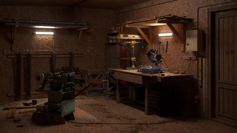 imagen de Carpintería de campo pequeño. en 3d max corona render