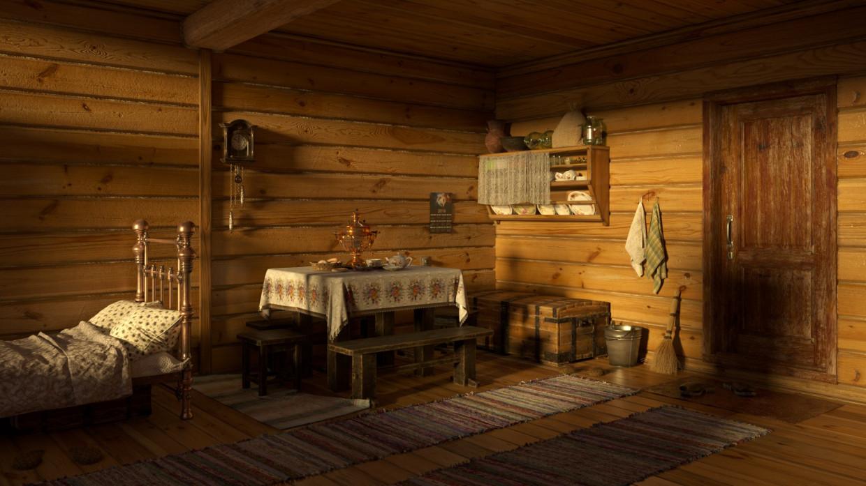 Village life in 3d max corona render image