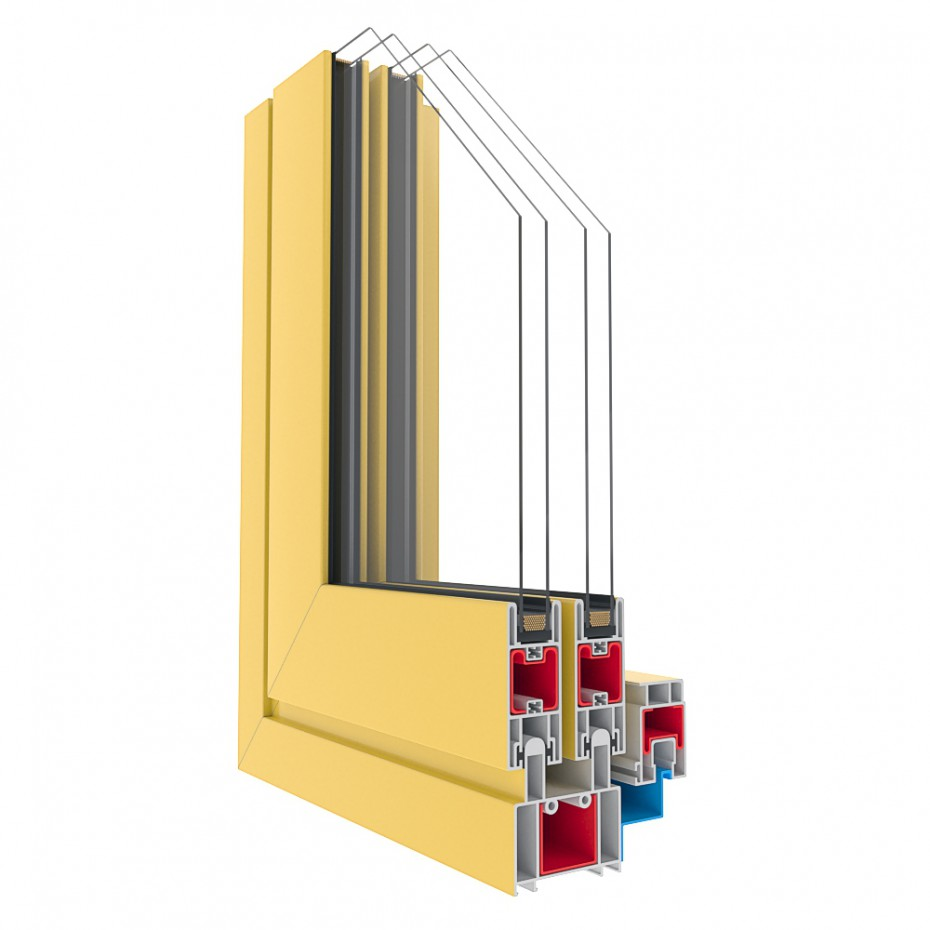 Window profiles  in  3d max   corona render  image