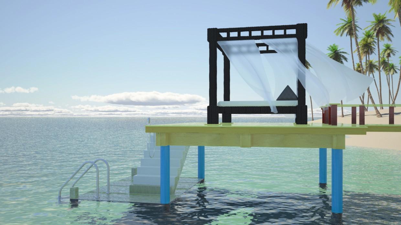 3d візуалізація проекту Seaside в Maya, рендер vray від temporalex