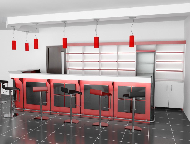 imagen de Diseño preliminar de la barra en 3d max vray