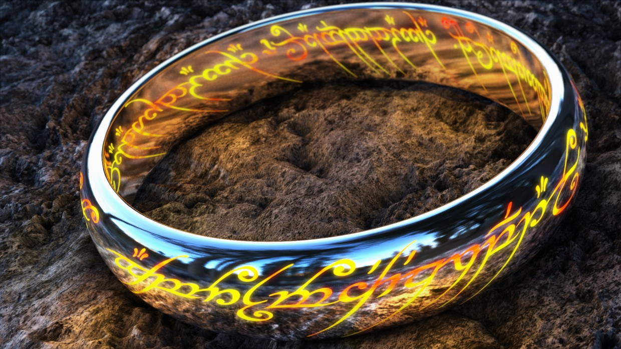 The One Ring in Cinema 4d vray 2.5 image